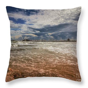 Rimini Storm Throw Pillow