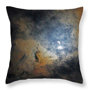 Ring Around The Moon Throw Pillow