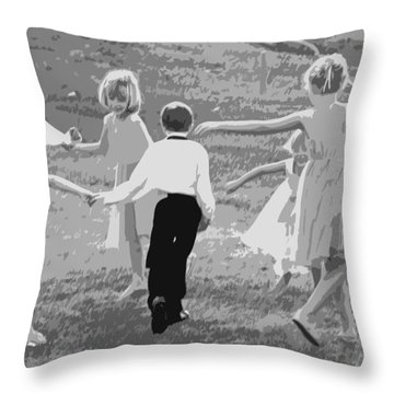 Throw Pillow featuring the photograph Ring Around The Rosy by Colleen Coccia