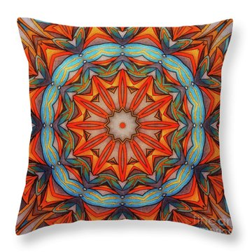 Ring Of Fire Throw Pillow by Mo T