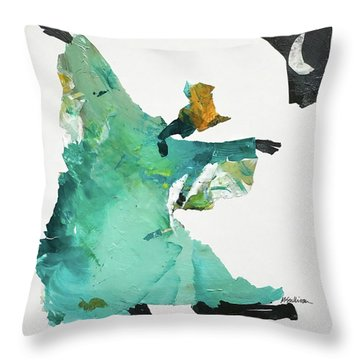 Ring Shout Dancer Throw Pillow by Mary Sullivan