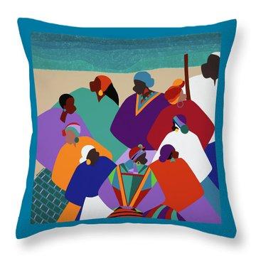 Ring Shout Gullah Islands Throw Pillow
