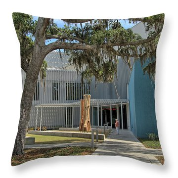 Throw Pillow featuring the photograph Ringling College Of Art And Design - Image 2 by Richard Goldman