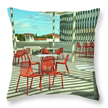 Throw Pillow featuring the photograph Ringling College Of Art And Design Image 4 by Richard Goldman