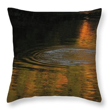 Rings And Reflections Throw Pillow