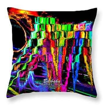 Throw Pillow featuring the photograph Rings Of Fire by Barbara Tristan