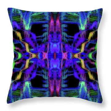 Rings Of Fire Dopamine #156 Throw Pillow by Barbara Tristan
