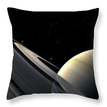 Rings Of Saturn Throw Pillow by Fahad Sulehria