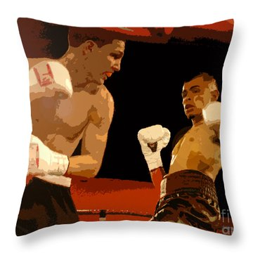Ringside Throw Pillow by David Lee Thompson