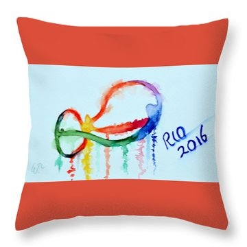 Rio 2016 Throw Pillow by Warren Thompson