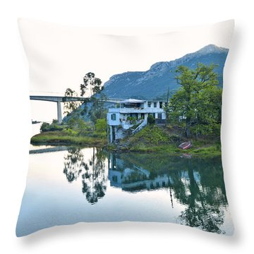 Rio Aguera Reflection  Throw Pillow by Marek Stepan
