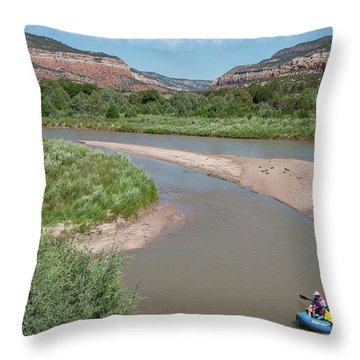 Throw Pillow featuring the photograph Rio Chama_rroch by Britt Runyon