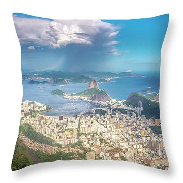 Throw Pillow featuring the photograph Rio De Janeiro by Andrew Matwijec