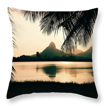 Rio De Janeiro, Brazil Landscape Throw Pillow
