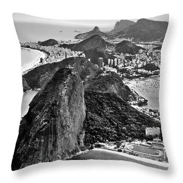 Rio De Janeiro - Sugar Loaf, Corcovado And Baia De Guanabara Throw Pillow