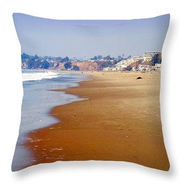 Rio Del Mar Beach Aptos Throw Pillow