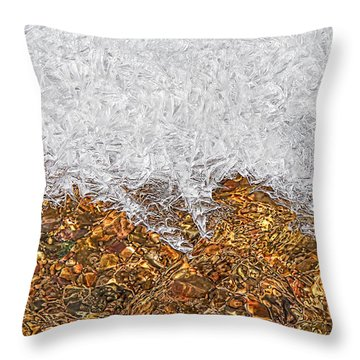 Rio Embudo Ice Throw Pillow