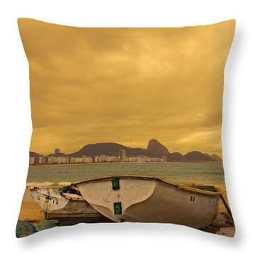 Throw Pillow featuring the photograph Rio Fishing Boats by Kim Wilson