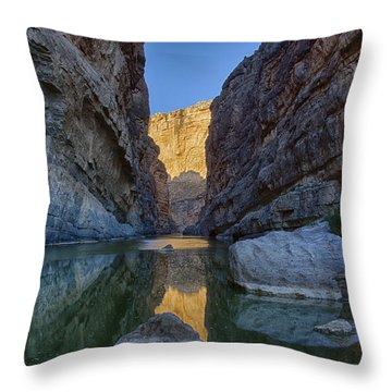 Rio Grand - Big Bend Throw Pillow by Kathy Adams Clark