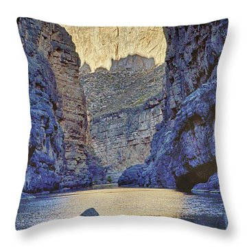 Rio Grand, Santa Elena Canyon Texas 2 Throw Pillow by Kathy Adams Clark