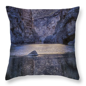 Rio Grand, Santa Elena Canyon Texas Throw Pillow by Kathy Adams Clark