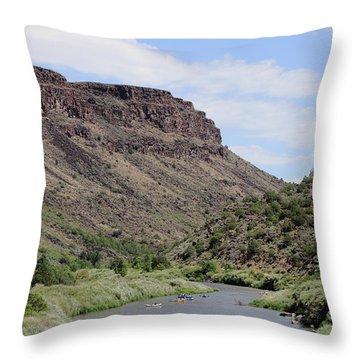 Rio Grande Del Norte Throw Pillow