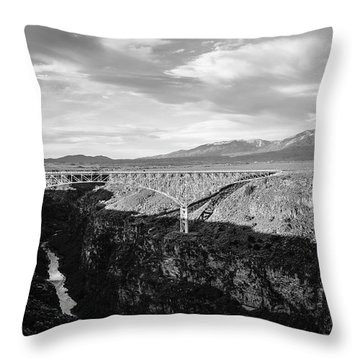Throw Pillow featuring the photograph Rio Grande Gorge Birdge by Marilyn Hunt