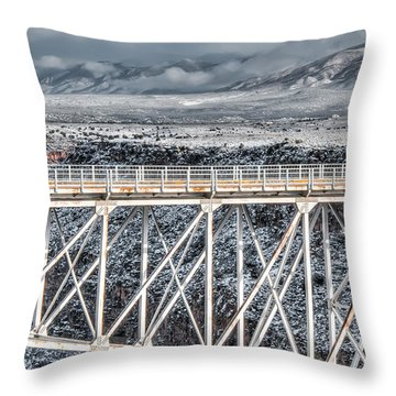 Rio Grande Gorge Bridge #001 Throw Pillow