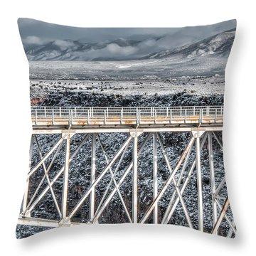 Rio Grande Gorge Bridge #001 Throw Pillow