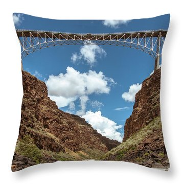 Rio Grande Gorge Bridge Throw Pillow
