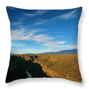 Throw Pillow featuring the photograph Rio Grande Gorge Nm by Marilyn Hunt