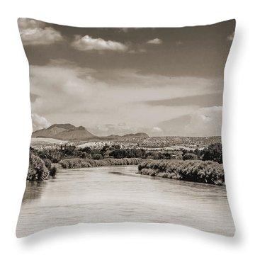 Rio Grande In Sepia Throw Pillow