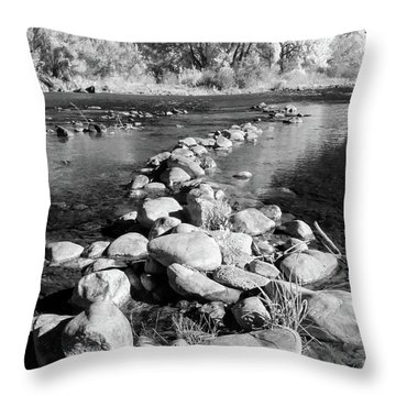 Throw Pillow featuring the photograph Rio Grande-infrared by Britt Runyon