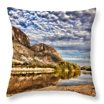 Rio Grande River 1 Throw Pillow