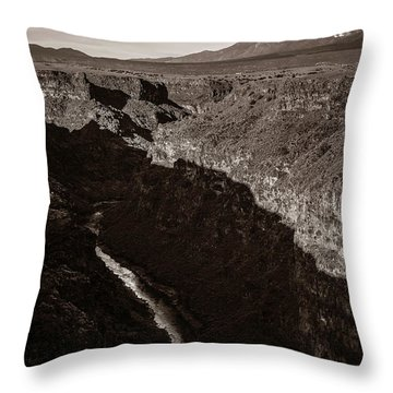 Throw Pillow featuring the photograph Rio Grande River Taos by Marilyn Hunt