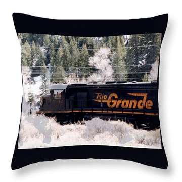 Rio Grande Train In Colorado Throw Pillow