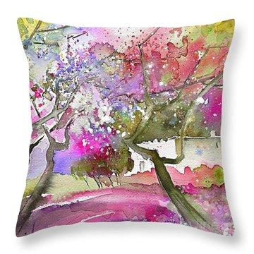 Rioja Spain 02 Throw Pillow by Miki De Goodaboom