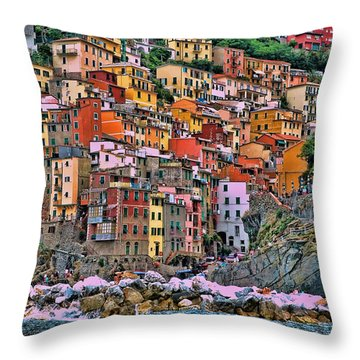 Throw Pillow featuring the photograph Riomaggiore by Allen Beatty