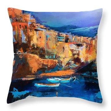 Riomaggiore - Cinque Terre Throw Pillow
