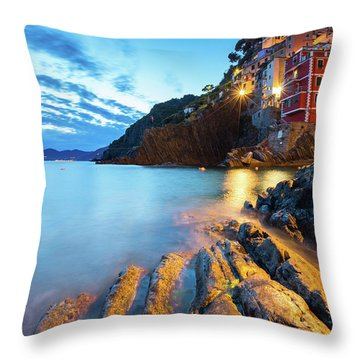 Riomaggiore Throw Pillow by Evgeni Dinev