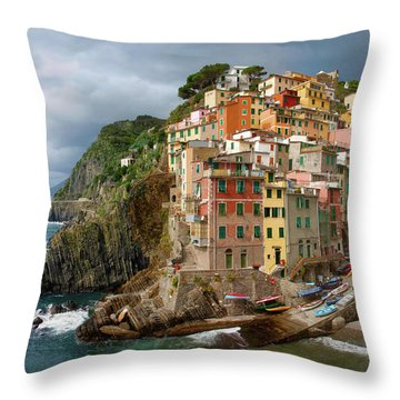 Riomaggiore Italy Throw Pillow
