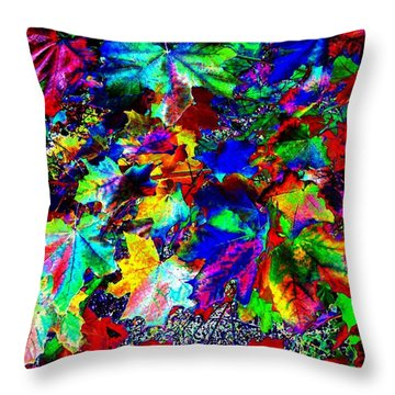 Riot Of Color Throw Pillow by Will Borden