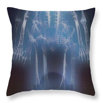 Rip -  Skeletons Throw Pillow