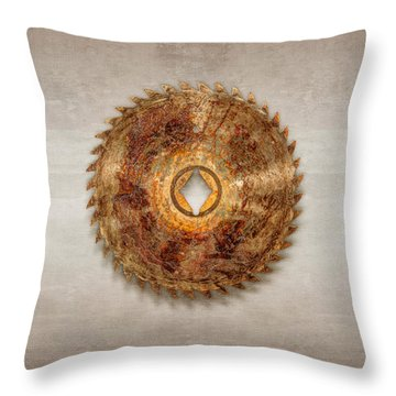 Rip Tooth Sawblade Throw Pillow