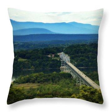 Rip Van Winkle Bridge Throw Pillow