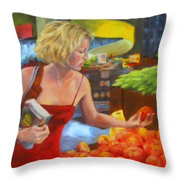 Ripe And Sweet Throw Pillow by Connie Schaertl