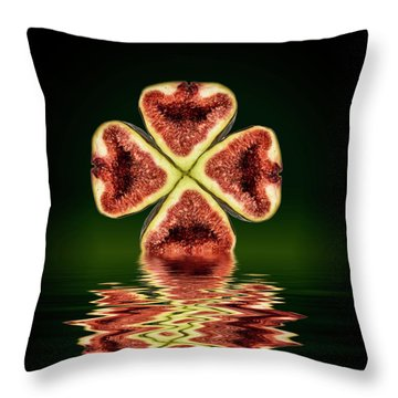 Throw Pillow featuring the photograph Ripe Juicy Figs Fruit by David French