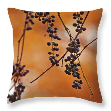 Ripe Wild Grapes  Throw Pillow