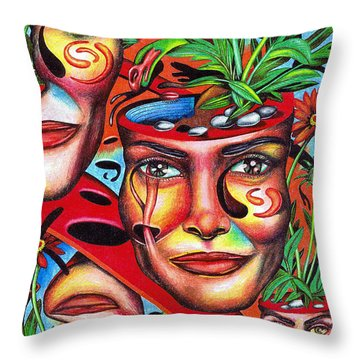 Ripening Of A Lucid Psyche Throw Pillow