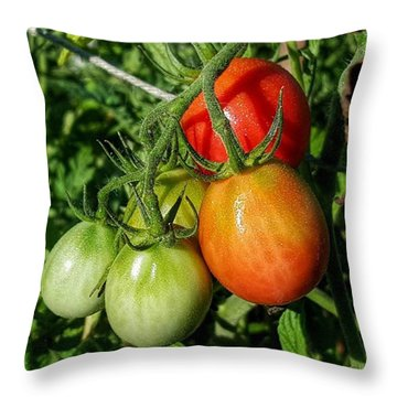 ripening #photography #garden Throw Pillow by Andrew Pacheco